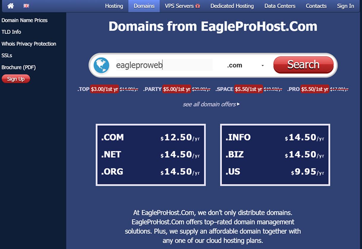 Eagleprohost net - EagleProWeb Com